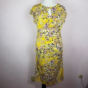 Apt 9 Abstract Print Dress with Keyhole Ruching XL